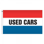 3' x 5' Message Flag - Used Cars