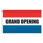 3' x 5' Message Flag - Grand Opening