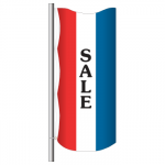 3' x 8' Vertical Message Flag - Sale
