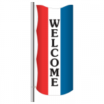 3' x 8' Vertical Message Flag - Welcome
