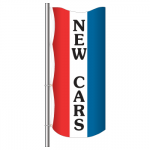 3' x 8' Vertical Message Flag - New Cars
