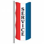 3' x 8' Vertical Message Flag - Service