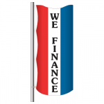 3' x 8' Vertical Message Flag - We Finance