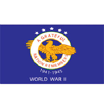 Outdoor World War II Commemorative Flag