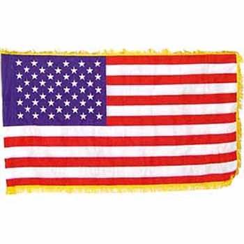 indoor fringed u.s. flag