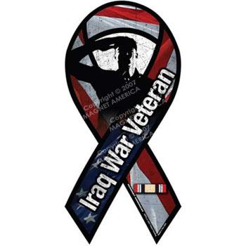 Iraq War Veteran Ribbon Magnet