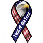 Land of the Free with Eagle Ribbon Magnet