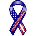 One Nation Under God Ribbon Magnet