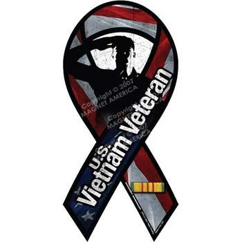 Vietnam War Veteran Ribbon Magnet