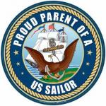 Proud Parent Navy Magnet