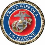 Proud Wife Marine Corps Magnet