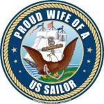Proud Wife Navy Magnet