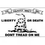 Culpepper Minute Men Flag Decal