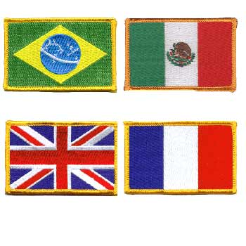 World Flag Patches