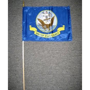 Navy 12 x 18 Hand Held Flags