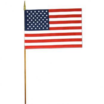 U.S. Cotton Mini Flags On Staff 8 x 12