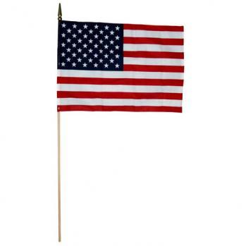 U.S. Cotton Mini Flags On Staff 12 x 18