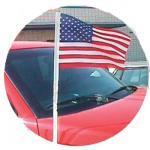 Cloth U.S. Antenna Pennants