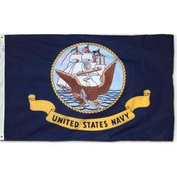 Outdoor Nylon Navy Flag