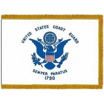 Coast Guard Fringed Indoor / Parade Flags