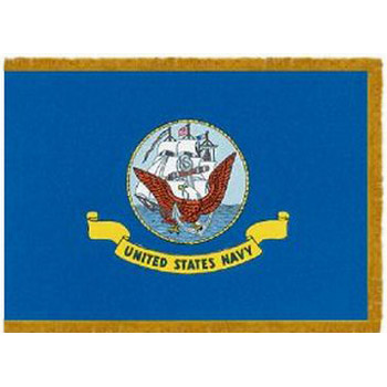 Navy Fringed Indoor / Parade Flags