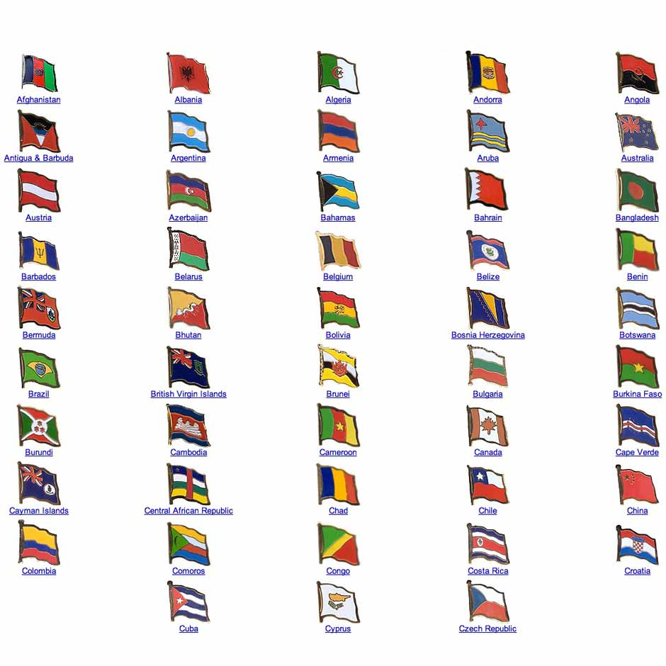 eventflags - flags  banners and custom printed bladesworld flag assorted lapel pins  a