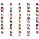 World Flag Assorted Lapel Pins: A - C