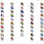World Flag Assorted Lapel Pins: D - K