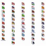 World Flag Assorted Lapel Pins: L - Q