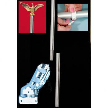 3/4 Economy Aluminum Pole & Bracket Set
