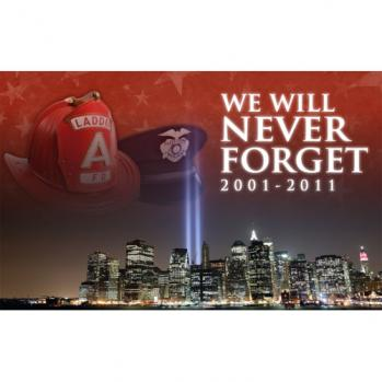 Never Forget 9-11 NYC Flag