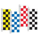 8'x3' Checker Vertical Drape Flags