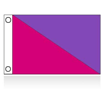 Diagonal Attraction Flag - 3' x 5'
