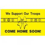 3' x 5' We Support Our Troops Flags