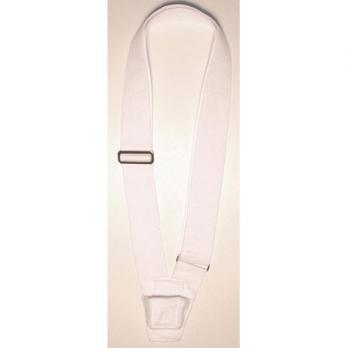 Single White Web Carrying Belt