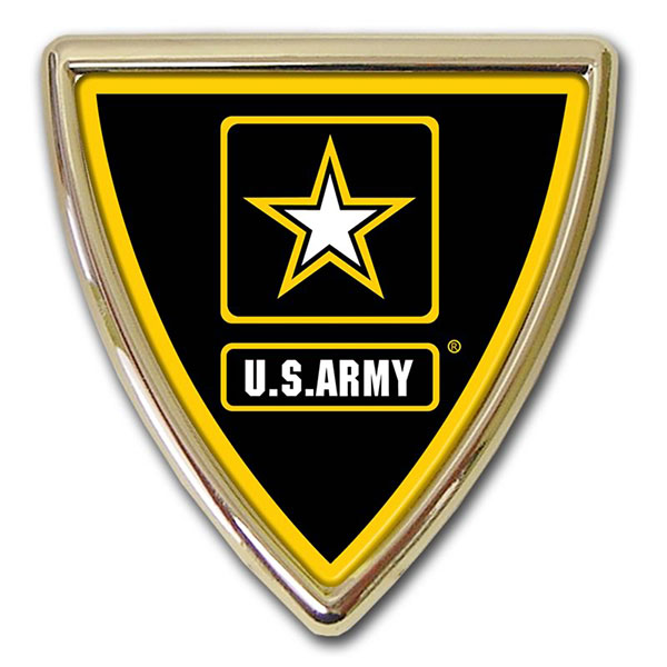 Army Star Shield Auto Emblem