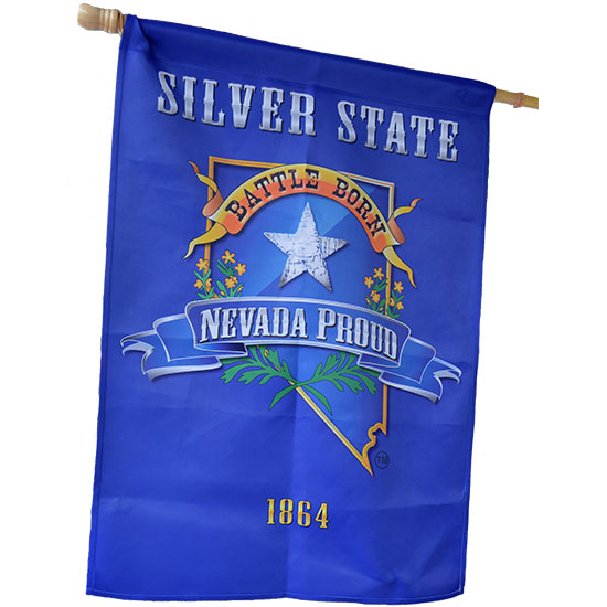 Blue And Gold Nevada Proud Decorative Flag