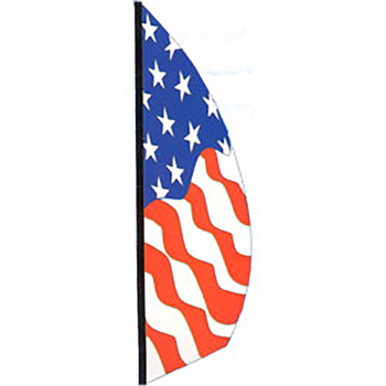 8.5' Patriotic Wind Feather