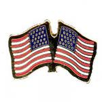 U.S. Two Flag Lapel Pin