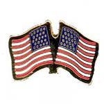 U.S. Two Flag Lapel Pin