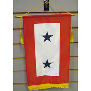 Two Blue Star Service Flag