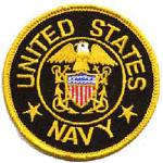Navy Round Patch