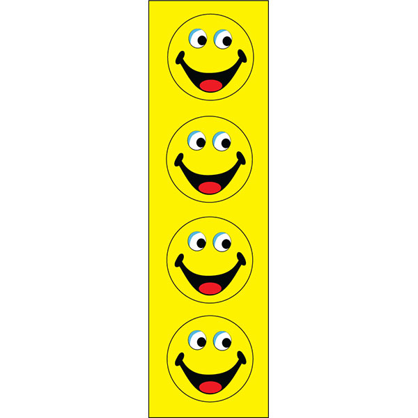 Yellow Smiley Face Vertical Message Flag