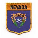 Nevada Shield Iron on Patch