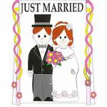 Just Married banner flag