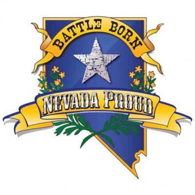 8e67329d3fe Blue and Gold Nevada Proud Battle Born Decal