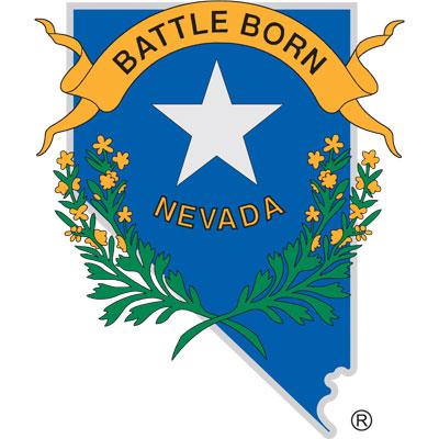Nevada Shape Battle Born Decal