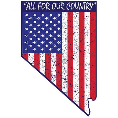 feac5540e43 All For Our Country Nevada Shape Decal