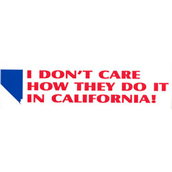 Bumper Stickers California