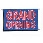 grand opening banner flag